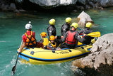 Fotografia Rafting on the river Soca