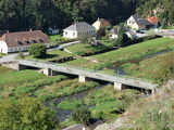 Bridge over the River Thaya in the village Kollmitzgraben Niederösterreich