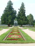 beautiful castle garden, castle Lednice - Historical Lednice - Valtická area. Czech Republic