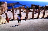 Photo Summer. Acropolis of Lindos. Rhodes Island - Greece.