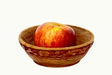 Bowl with apple