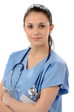 Confident female doctor posing with arms crossed
