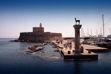 Fotografie Summer. The town and harbor of Rhodes. Rhodes Island - Greece.