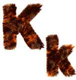 Fotografie Creative design of animal fur decorative alphabet for multipurpose use