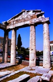 Photo Summer. City of Athens. Gateway Athens Archégetidy. Greece.