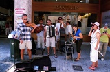 Summer. City of Athens, street music and musicians. Greece.