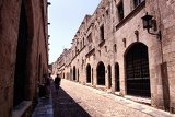Photo Summer. Rhodes Town, Knight street. Rhodes Island - Greece.