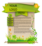 Photo Web template spring design