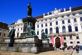 Town. The statue, monument, Eugene of Savoy and National Library. Vienna - Austria.