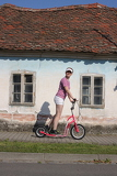Photo Girl with scooter