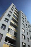 concrete high-rise block