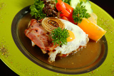 Photo steak with egg