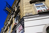 City, house, window and signboard. Vienna - Austria.