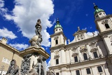 Town. The tower, church, temple and statues. Salzburg - Austria.