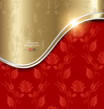 Fotografie Red and gold abstract background