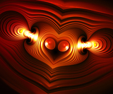 Photo Heart anatomy. Computer generated fractal artwork.