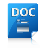 Embossed DOC file type icon