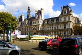 Town. Hall, center and right. Paris - France.
