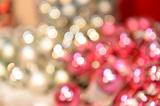 Blurred shiny silver and pink Christmas background