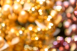Blurred glittering gold Christmas background