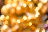 Glittering golden Christmas background