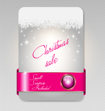trendy christmas sale card