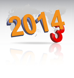 Fotografia new year 2014 background