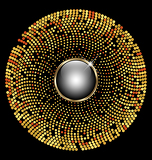 gold circle mosaic background