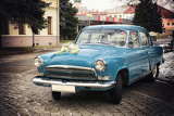 vintage wedding car the old russian brand  gaz volga