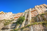 famous cliff in tropea calabria italy