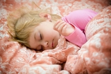sweet little girl and her innocent dreams