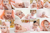 Fotografie collage of different photos of baby and his moments