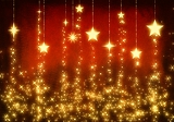 Fotografia chain gold stars as christmas background