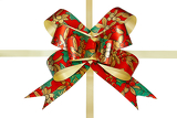 gift  ribbon and bow isolated on white