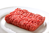 Fotografia close up raw ground beef
