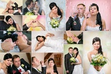 Fotografie wedding theme collage composed of different images