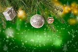Photo beautiful and colorful magical christmas background