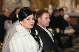 Fényképek newlyweds registry judge at the ceremony in the church