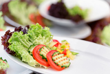 Fotografie fresh vegetable salad  side dishes