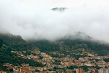 the valley town in the fog  region of southern italy