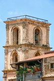 Fotografia beautiful picturesque bell tower in vibo valentia in calabria italy