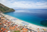 Fotografia view on scilla beach in calabria southern italy