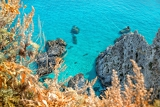 Fotografia coast near the town of tropea region calabria  italy