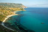 Fotografie coast near the town of capo vaticano region calabria  italy
