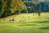 beautiful golf course on a sunny autumn day