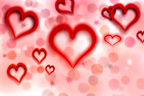 Fotografie valentines background with hearts