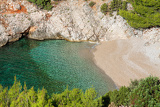 beautiful little cove by the sea on the island of hvar