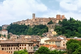 a look at the historical center of the tuscan town of colle di val delsa