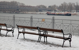 Benches and Danube, Slovakia