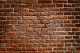 ancient wall built from red bricks